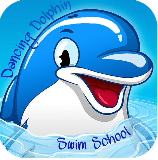 Dancing Dolphin Swim School Logo